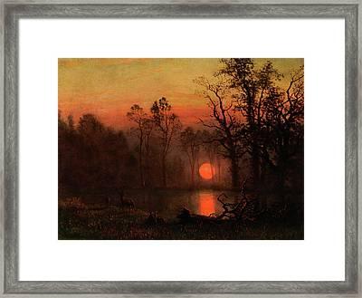 Sunset Over The Plains Framed Print