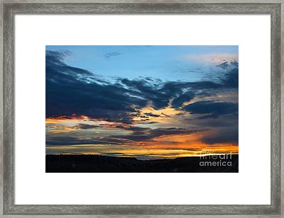 Sunset Over The Plains Of The Texas Panhandle 1 Framed Print by MaryJane Armstrong