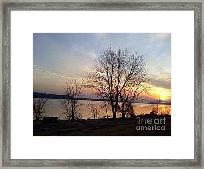 Sunset Over The Potomac Framed Print