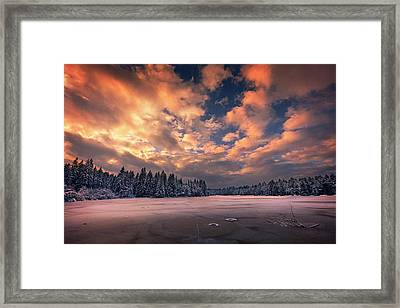 Sunset Over The Pound Framed Print