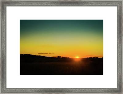 Sunset Over The Prairie Framed Print