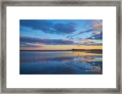 Sunset Over The River Esk Framed Print by Julian Walters