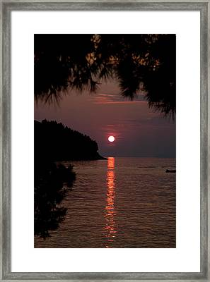 Sunset Over The Sea - Croatia Framed Print by Robert Shard