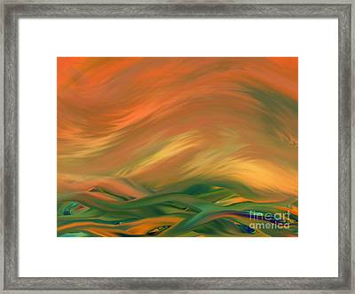 Sunset Over The Sea Of Worries Framed Print by Giada Rossi
