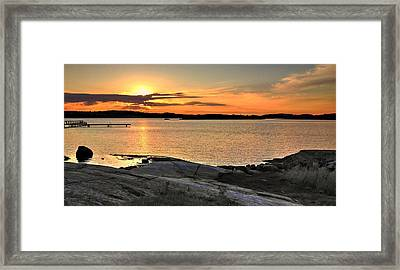 Sunset Over The Sound Framed Print