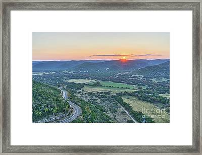 Sunset Over The Texas Hills Framed Print by Tod and Cynthia Grubbs