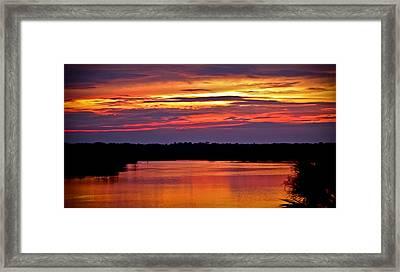 Sunset Over The Tomoka Framed Print