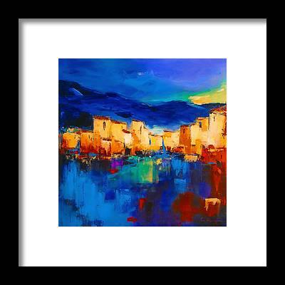 Abstract Skyline Framed Prints