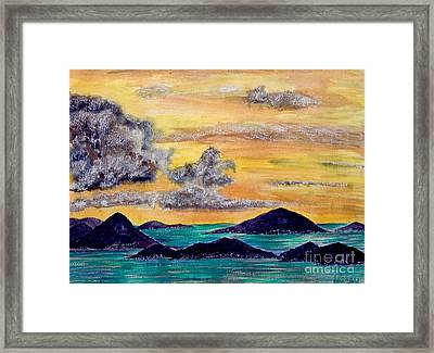 Sunset Over The Virgin Islands Framed Print