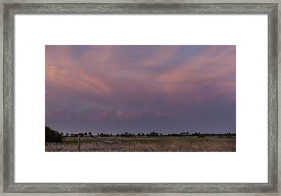 Sunset Over The Wetlands Framed Print