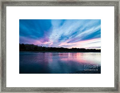 Sunset Over The Yellowstone Framed Print