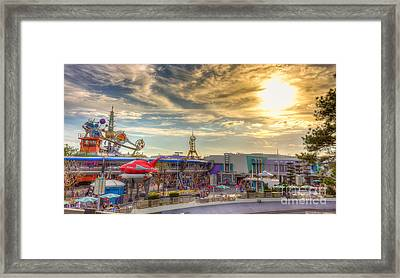 Sunset Over Tomorrowland Framed Print