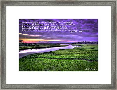 Sunset Over Turners Creek Love Framed Print by Reid Callaway