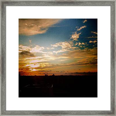 Sunset Over University Of Tampa Framed Print by Joseph Cuccolino