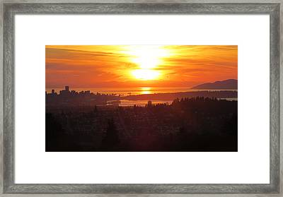 Sunset Over Vancouver Framed Print