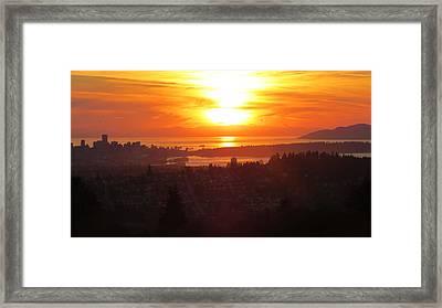 Sunset Over Vancouver Framed Print