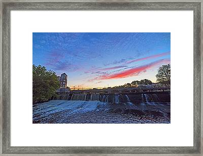 Sunset Over Waltham Charles River Waltham Ma Framed Print