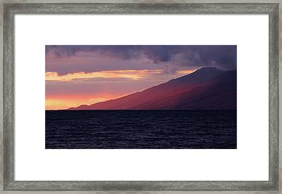 Sunset Over West Maui Framed Print