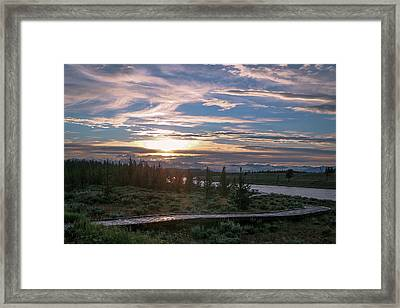 Sunset Over West Yellowstone Framed Print