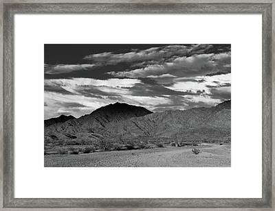 Sunset Over Yuma Mountain Framed Print