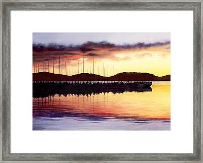 Sunset Panorama Left Side Framed Print