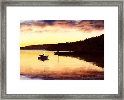 Sunset Panorama Right Side Framed Print