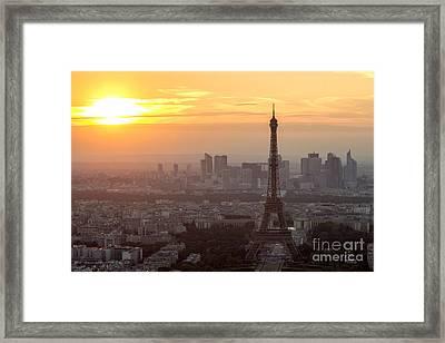 sunset Paris Framed Print