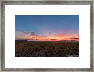 Sunset Pastures Framed Print