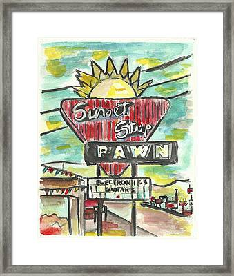 Sunset Pawn Framed Print by Matt Gaudian