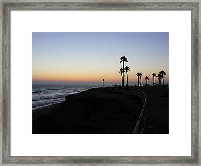 Sunset Pch 2006 Framed Print by Ron Hayes