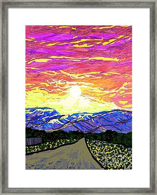 Sunset Pearblossom Highway Framed Print by Ishy Christine Degyansky