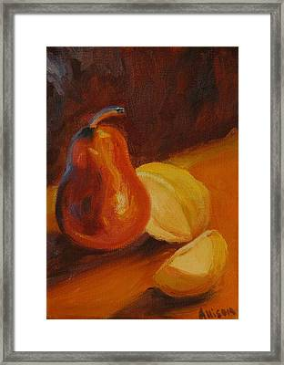 Sunset Pears Framed Print by Stephanie Allison