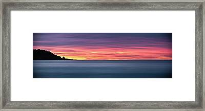Framed Print featuring the photograph Sunset Penisular, Bunker Bay by Dave Catley