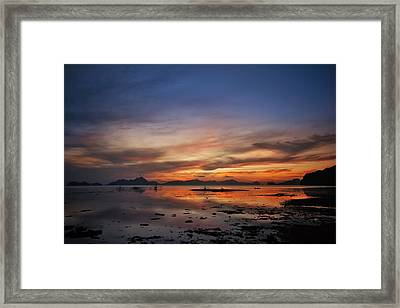 Sunset Pi Framed Print