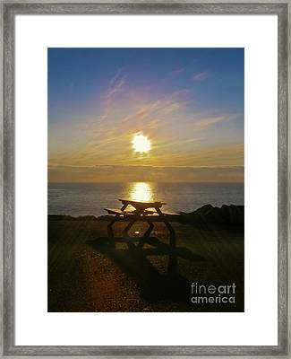 Sunset Picnic Framed Print by Terri Waters