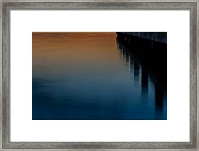 Sunset Pier Abstract Framed Print by Terry DeLuco
