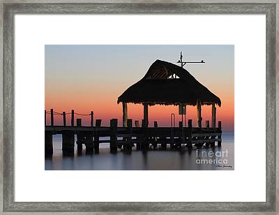 Sunset Pier Framed Print