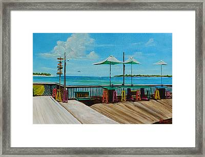 Sunset Pier Tiki Bar - Key West Florida Framed Print
