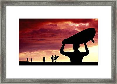 Sunset Pilgrimage Framed Print by Sean Davey