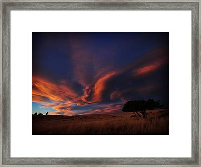 Sunset Plains Framed Print