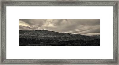Sunset Point Arizona Panorama Toned Framed Print
