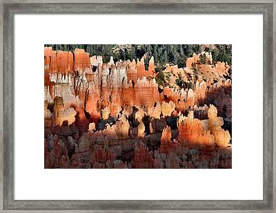 Sunset Point Hoodoos Framed Print by Stephen  Vecchiotti