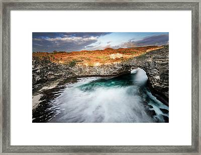 Framed Print featuring the photograph Sunset Point In Broken Beach by Pradeep Raja Prints