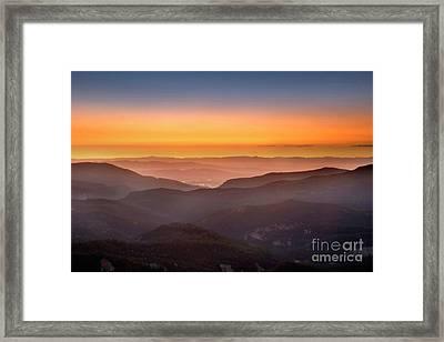 Sunset Point Framed Print