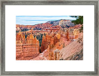 Framed Print featuring the photograph Sunset Point Tableau by John M Bailey