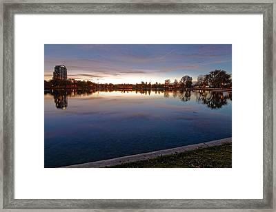 Sunset Pond Framed Print