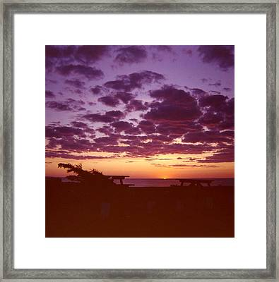 Sunset-prince Edward Island Framed Print by Addie Hocynec