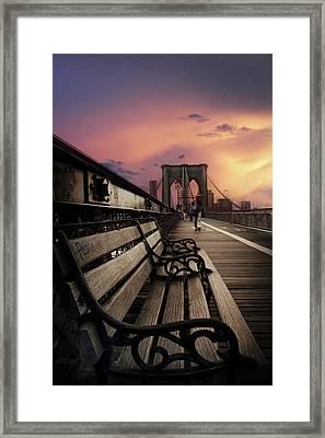 Sunset Promenade Framed Print