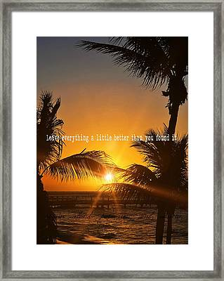Sunset Quote Framed Print by JAMART Photography