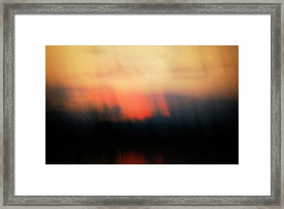 Framed Print featuring the photograph Sunset Raining Down by Marilyn Hunt